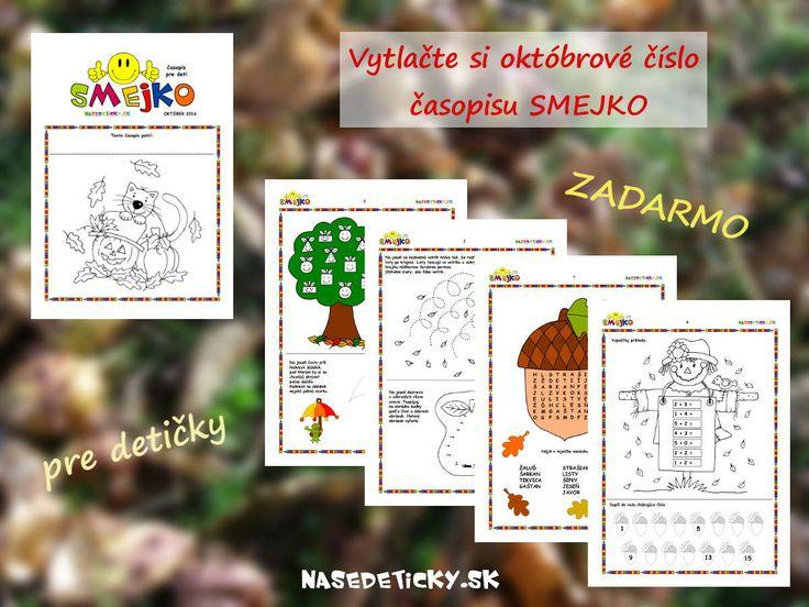 Vytlačte si ZADARMO časopis SMEJKO pre deti. Je určený najmä pre predškolákov a malých školákov.