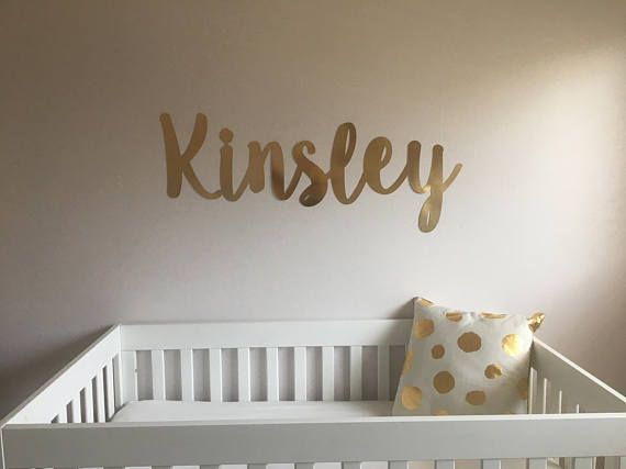 Nursery Name Wall Letters