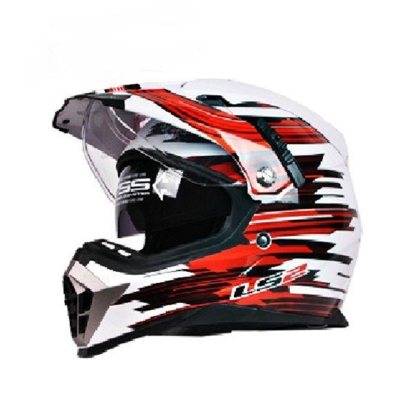 ECE Dual Lens Motocross Helmets Motorcycle Helmet for LS2