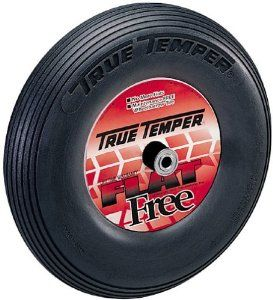 True Temper 8-Inch Flat Free Solid Wheelbarrow Tire FFTCC by Ames True Temper. $49.42. 8-inch tire. Wheelbarrow tire eliminates flat tires forever. 6-inch hub provides a universal fit to all wheelbarrows. Flat-proof, lightweight, and long lasting. Solid polyurethane wheel. Amazon.com                The Ames True Temper 8-inch flat-free solid wheelbarrow tire eliminates flat tires forever. This 8-inch solid polyurethane wheel is flat-proof, lightweight, and long lasting. Its...