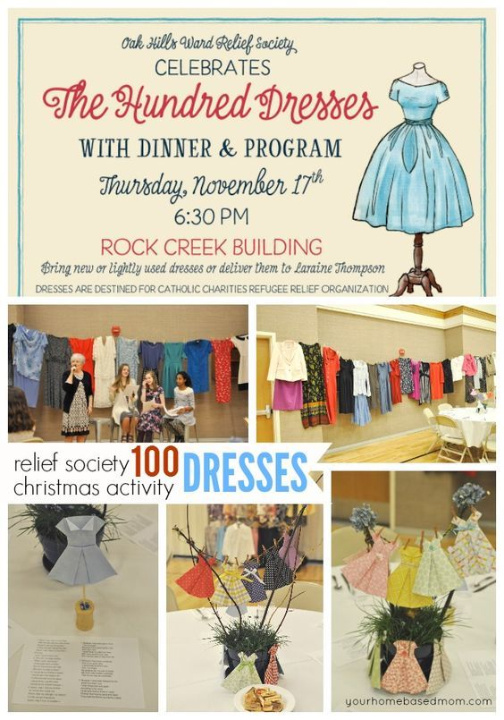 100 Dresses Relief Society Christmas Activity - The story of The Hundred Dresses was the perfect way to kick off the holiday season for our Relief Society Activity.
