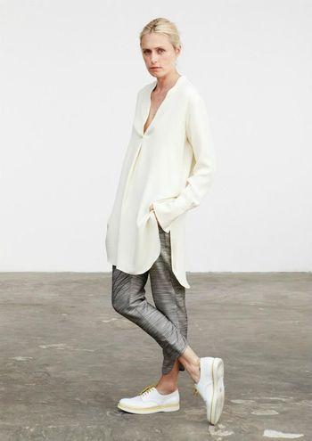 柔らかい素材で合わせて、休日のリラックススタイル♪スキッパーシャツのコーデ♪スタイル・ファッションの参考に☆
