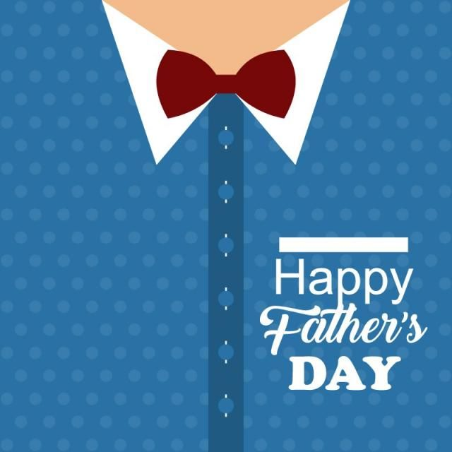 Fathers Day Blue Background, Card, Love, Bow PNG and Vector with ...