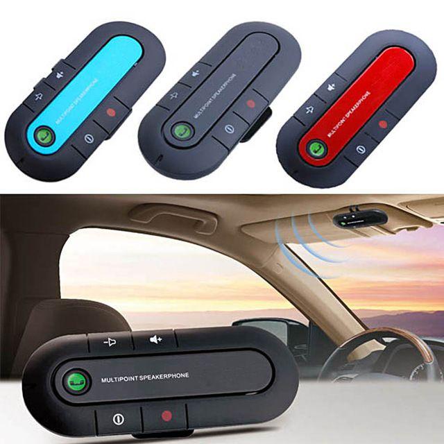Flash Deals $8.33, Buy  Bluetooth Car V3.0 Wireless Speaker Phone Slim Magnetic Hand Free In Car Kit Visor Clip High Quality Bluetooth Car Kit 3 Colors