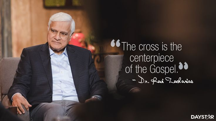 """The cross is the centerpiece of the Gospel."" -Dr. Ravi Zacharias [Click Image to Watch Full Episode at Daystar.com]"