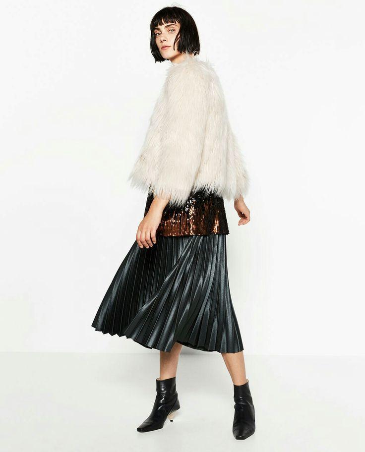Manteau fourrure Zara