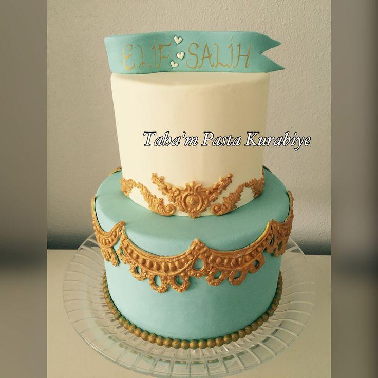 Gold nişan pastası