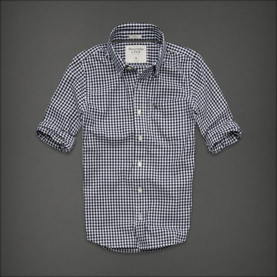 NEW Abercrombie Mens size LARGE Owls Head Mountain Shirt Navy Check | eBay