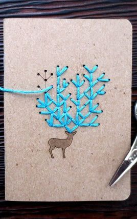 DIY Embroidered Notebook