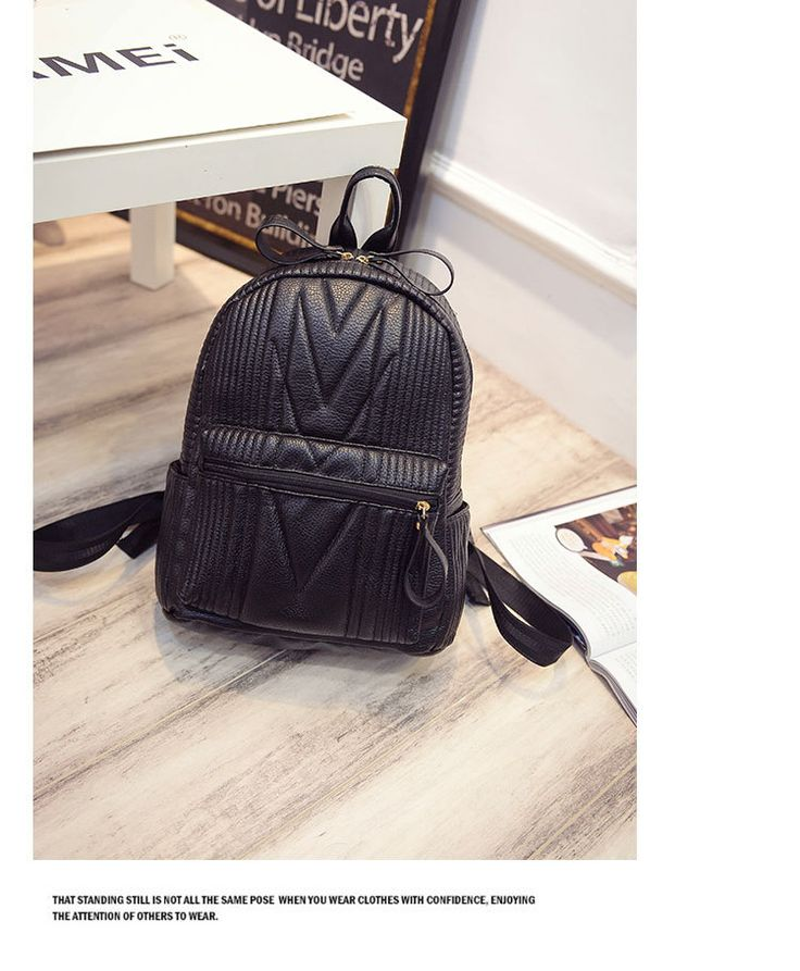 Aliexpress.com: Comprar Corea moda de nueva cuero famoso mujeres Ladies negro mochila pequeñas bolsas de viaje escuela adolescente de bolsa de lavado fiable proveedores en Life RS Store