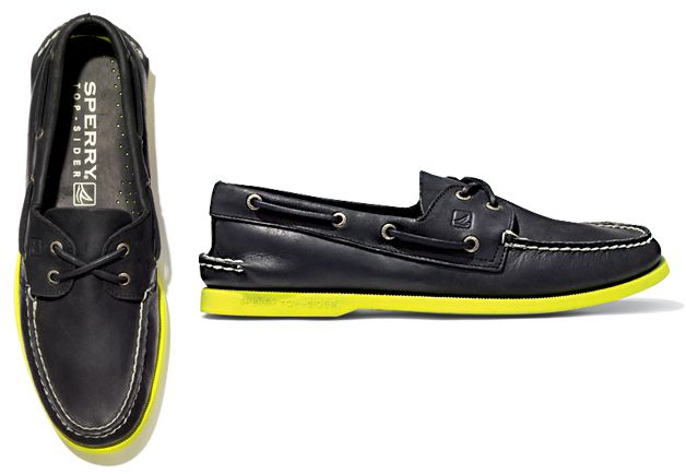 neon sperry sole