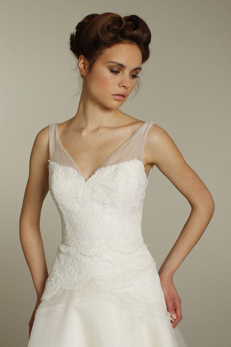 Has anyone added an illusion neckline to a strapless wedding dress? - Weddingbee