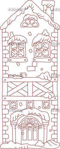 Diddybag Set 11717 - Snow Covered Cottage Bookmarks