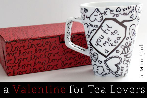 Writable Tea Mug Gift for Valentine's Day! (tutorial) #valentinesday #crafts