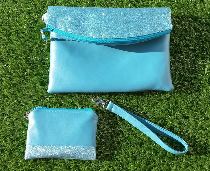 Turquoise Evening Bag, Clutch Bag, Bag and Purse Set, Blue Clutch Bag, Glitter Clutch Bag, Faux Leather Bag, Prom Bag, Wrist Strap, Swoon by DippyDaisyDesigns on Etsy https://www.etsy.com/uk/listing/521203592/turquoise-evening-bag-clutch-bag-bag-and