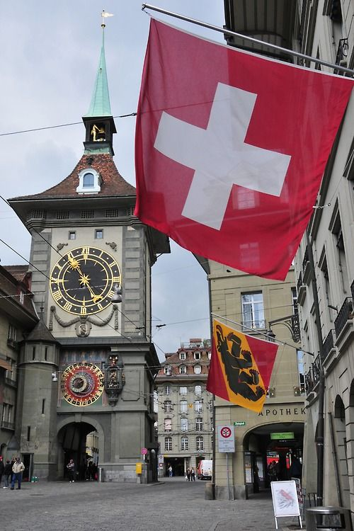 Bern, Switzerland (famous Clock in Bern) This is where the Swiss side of the family came from. The other side is Irish, how lucky can I get.