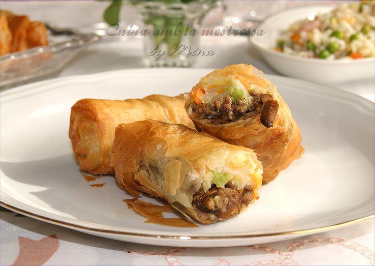 Cuina amb la mestressa: Rollitos chinos a mi manera...