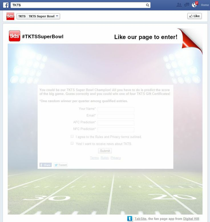 Nice example of a Facebook Promotion Like Gate on the tab.  #tabsite