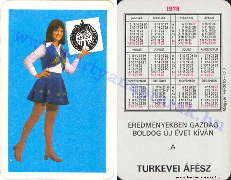 1978 - 1978_0919 - Régi magyar kártyanaptárak