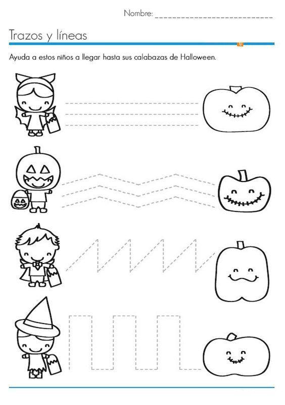halloween trace line worksheet (3) More