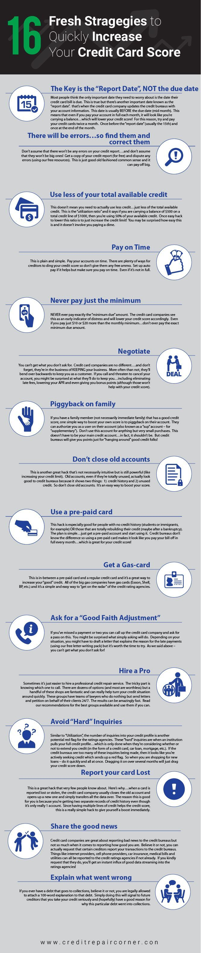 16 Tips to improve your credit today!