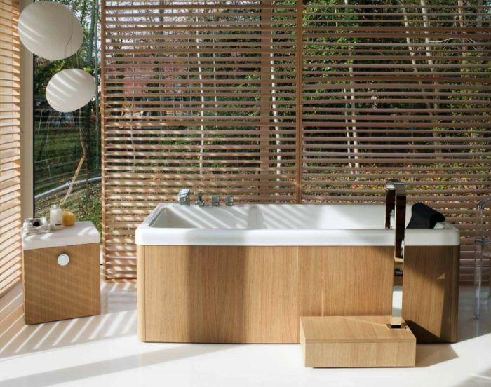 dekoideen deko aus bambus wanddeko jalousien