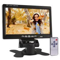 """7"""" Widescreen TFT LCD Color 2 Video Input Car Rearview Monitor"""