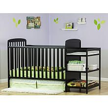 Dream On Me Anna 4 In 1 Full Size Crib And Changing Table Combo Black