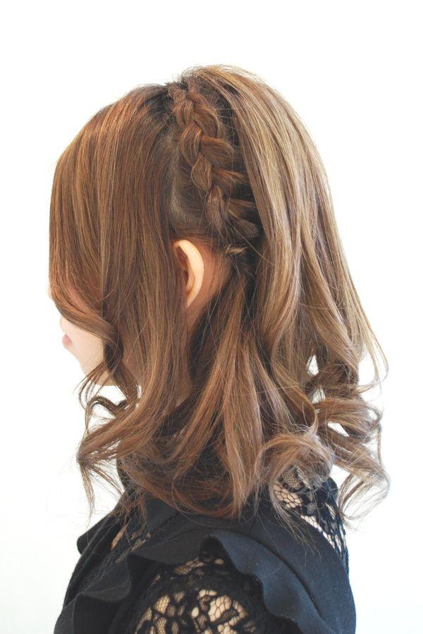 Hairstyles 2014 - braid down do with curls   ヘアスタイル 2014 - 編み込みダウンスタイル(ヘアスタイリスト 前田 真吾)