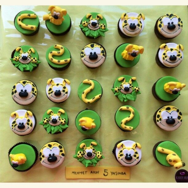 Marsupilami the longtail,jungle cupcake
