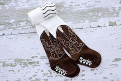 So cute!  They come in several colors.  Perfect for your little cowgirl before they are old enough for real boots!