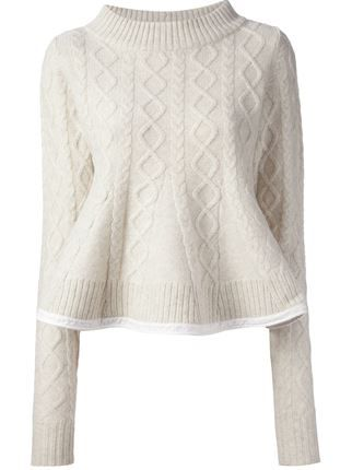 Sacai Cable Knit Sweater - - Farfetch.com