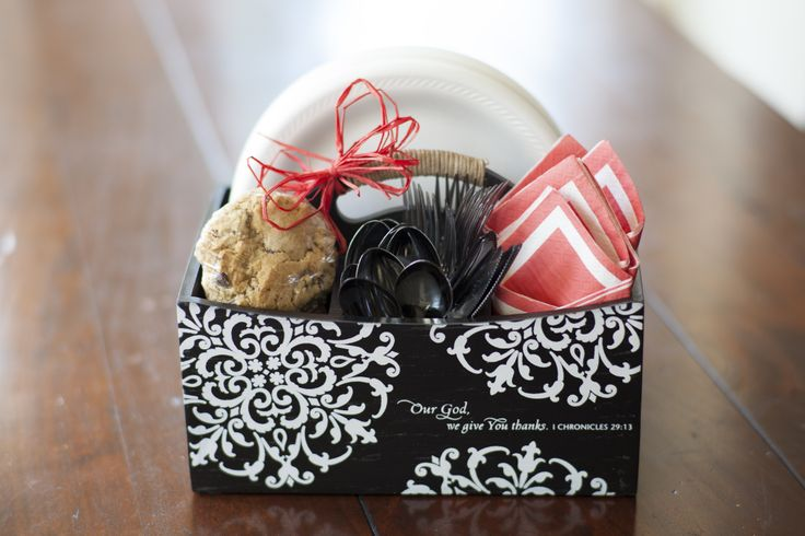 Kitchen Caddy: $38. Just add napkins, disposable silverware, paper plates, delicious cookies and a red bow and you have a beautiful gift for that friend or family member you want to help make their entertaining meaningful and simple!
