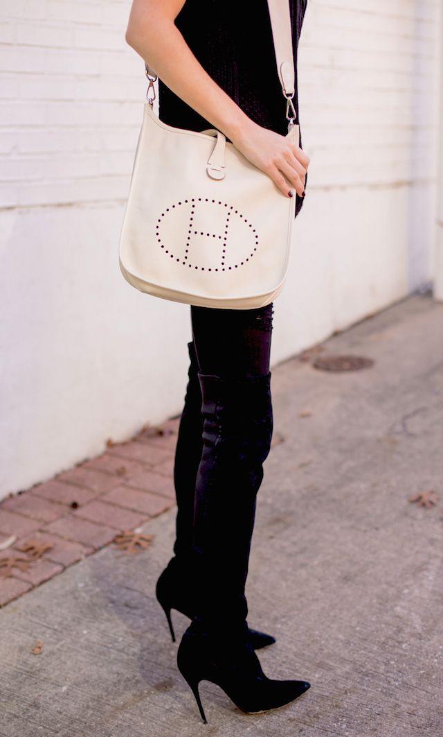 hermes evelyne bag in white   My Style   Pinterest   Hermes, Bags ...