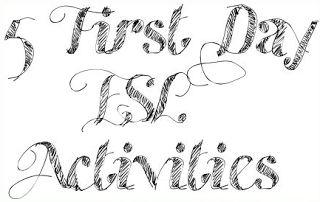 5 First Day Activites   ESL Kids Games