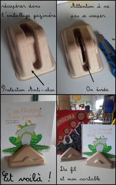Du fil et mon cartable : Bricolage ... Présentoir livre