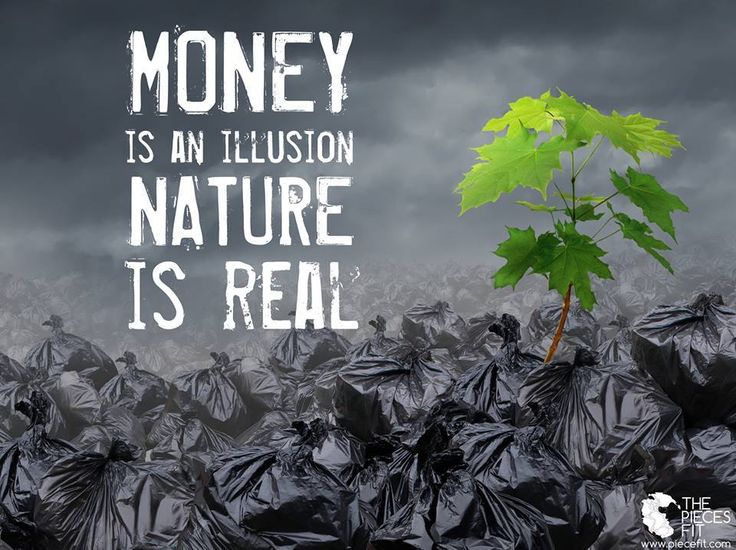remember that: we can't eat money, and it doesn't produce oxygen, so let's not destroy the rainforests of the world for it!