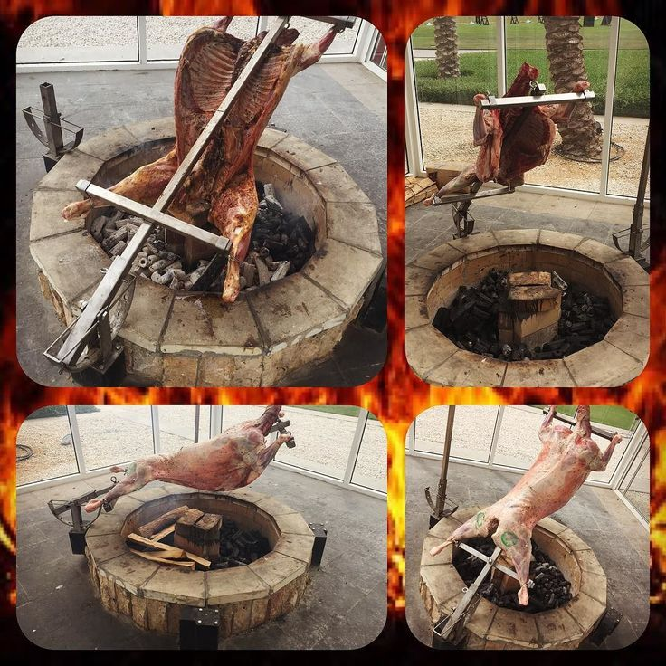 Asador Criollo fire pit roast... Made by us for a client in Abu Dhabi  #firewood…