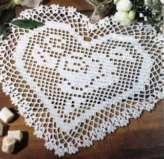 crochet em revista: esquemas crochet naperons pequenos