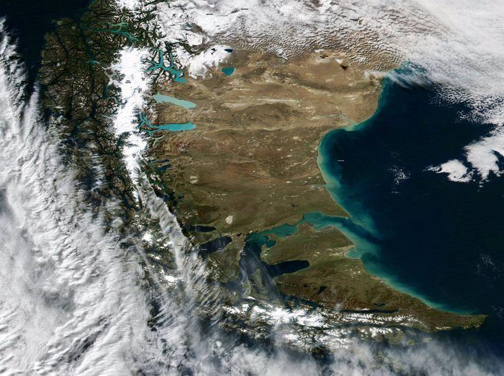 13 fotos de la Argentina desde la Estación Espacial Internacional - Santa Cruz, Estrecho de Magallanes y Tierra del Fuego