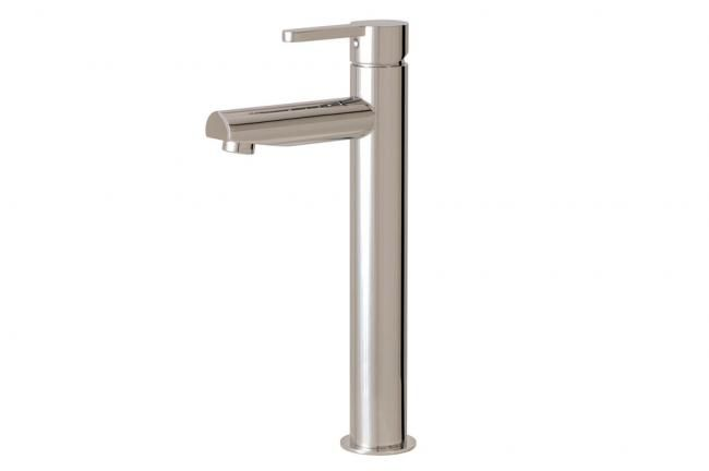 Tall single hole bath faucet by Aquabrass / Cabrio Collection