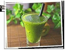 「キウイと小松菜のグリーンジュース」レシピ|みんなの朝ごはん・朝食レシピ:朝時間.jp