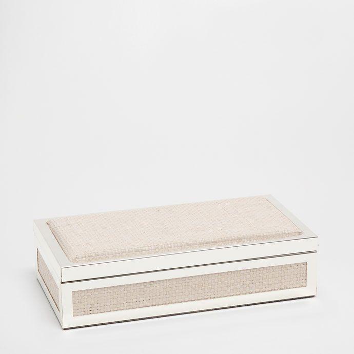Εικόνα 1 του προϊόντος Κουτί από μέταλλο και λινό με πλέξη