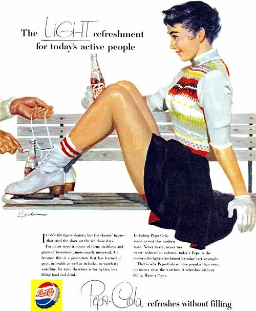"""Pepsi, """"For Today's Active People"""", 1955, Joe Bowler."""
