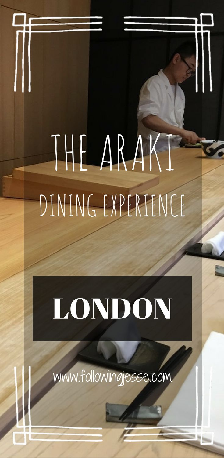 The Araki is a luxurious 2 Michelin Star Japanese restaurant located in London. Chef Mitsuhiro Araki gives diners an authentic Japanese sushi experience.