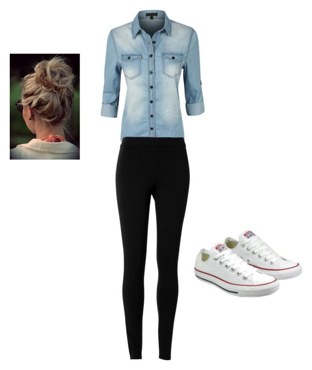 """""""OOTD"""" by audreythebatontwirler on Polyvore featuring LE3NO, Max Studio and Converse"""
