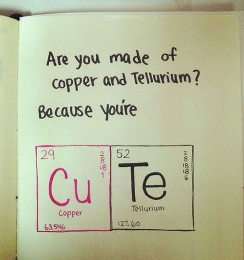 Are you made of copper and tellurium? Lol