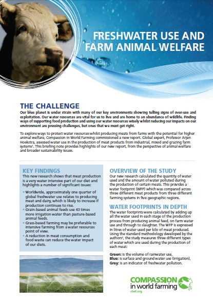 Freshwater use and Farm Animal Welfare