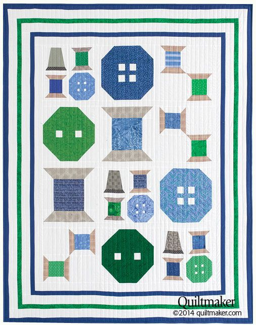I love sewing-themed quilts. From spools of thread to vintage sewing machines, there are lots of fun designs you can feature on a quilt to showcase your love of sewing. I had a little fun this week an