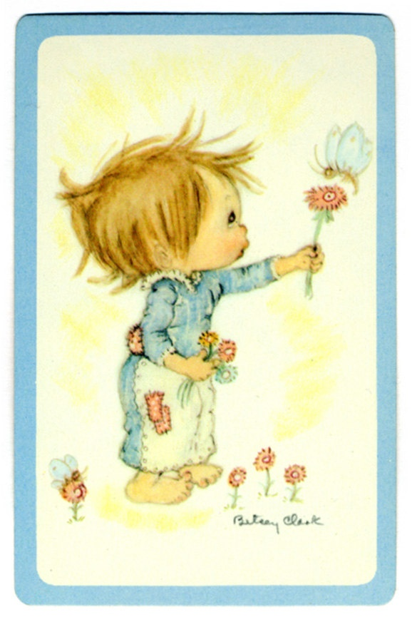 BOY+FLOWER+&+BEE+4+Betsey+Clark+Vintage+Single+by+AntiqueWhimsy,+$1.50